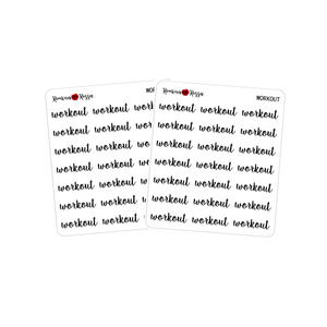 Workout Script Stickers | Planner Stickers