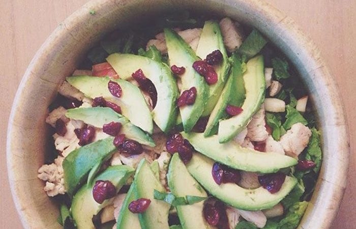 Grilled Chicken Cranberry Apple Salad