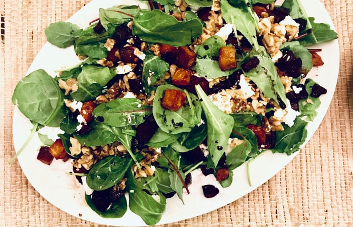 Balsamic Roasted Beet Salad with Goat Cheese