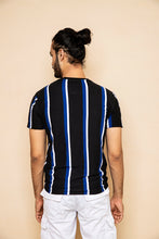 Load image into Gallery viewer, Black Striped T-Shirt