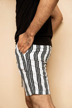 Load image into Gallery viewer, Black and White Striped Shorts