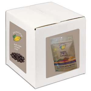 Bulk Chocolate Bites - Case of 12 - Organic 70% Chocolate Bites with Coconut Sugar {Paleo}