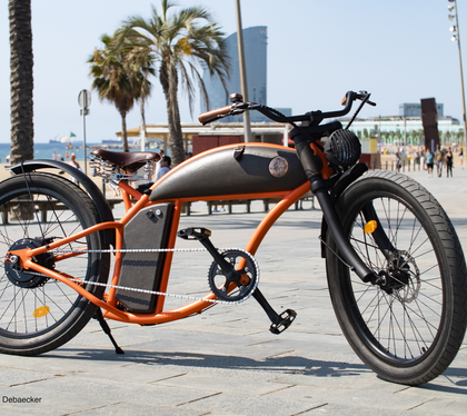 Rayvolt Cruzer Orange Retro Electric Bike