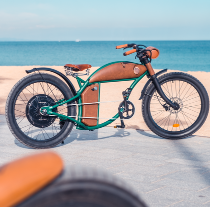 Rayvolt Cruzer Green Retro Electric Bike