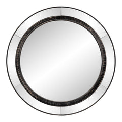 ROUND MIRROR W/ WOOD RING