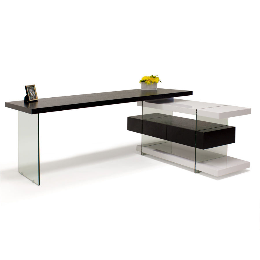 Pictures of office tables Long Lshaped Office Desks Dania Furniture Find Your Perfect Office Desk Buy Computer Desks Chairs More