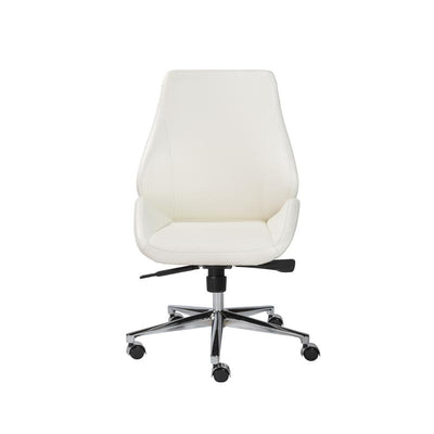 Contemporary White Leatherette Conference or Office Chair