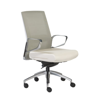 Modern Adjustable White Mesh Office Chair