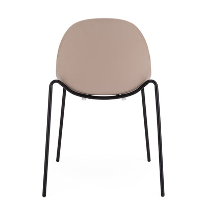 Blush Guest or Conference Chair with Steel Legs (Set of 4)