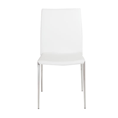 Stackable White Leatherette Guest or Conference Chair (Set of 4)