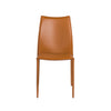 Stylish Cognac Regenerated Leather Guest or Conference Chairs (Set of 4)