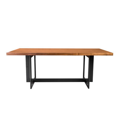 "79"" American Walnut Executive Desk or Meeting Table with Black Base"