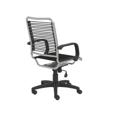 Classic Black Bungee-Back Wheeled Office Chair