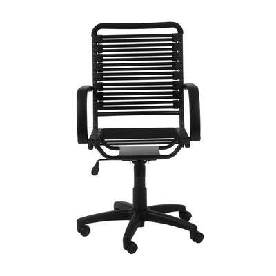 Modern Black Office Chair with Bungee Supports