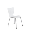 Elegant White & Chrome Stacking Guest Chairs (Set of 4)