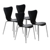 Retro Black Guest or Conference Chair w/ Steel Base (Set of 4)