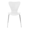 White Guest or Conference Chair with Steel Legs (Set of 4)
