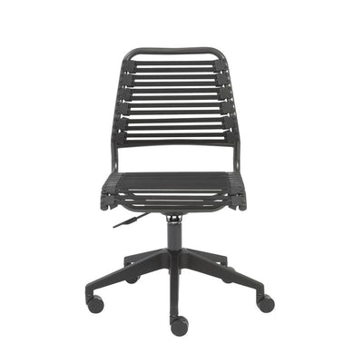 Classic Graphite Black Flat Low Back Office or Conference Chair