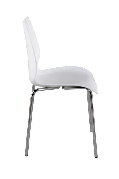 Elegant White & Chrome Guest / Conference Chair (SET OF FOUR)