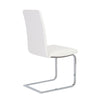 Sophisticated White Leatherette Guest or Conference Chair (Set of 2)