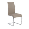 Extra Tall Taupe Leatherette Guest or Conference Chair (Set of 4)
