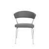 Gray Leatherette Guest or Conference Chair w/ Curved Back (Set of 4)