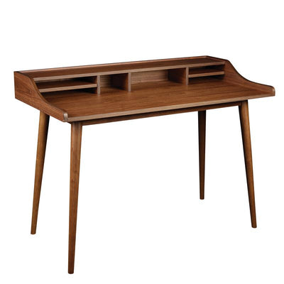 "47"" Compact American Walnut Writing Desk"