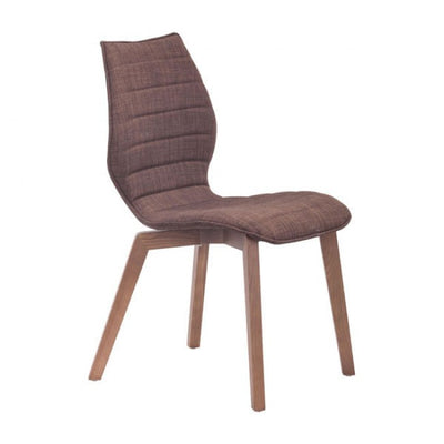 Curved Soft Brown Guest or Conference Chairs (Set of 2)