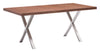"71"" Walnut & Brushed Stainless Executive Desk or Meeting Table"
