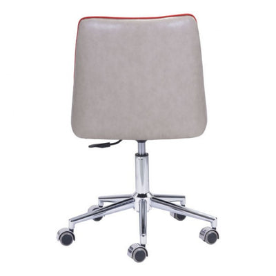 Vibrant Orange Retro-Style Office Chair