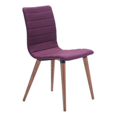 Purple Poly-Linen Guest or Conference Chair (Set of 2)