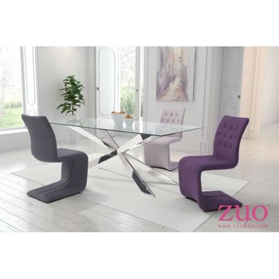 Fully-Upholstered Purple Guest or Conference Chair (Set of 2)
