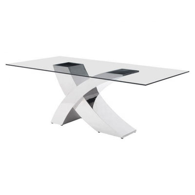"Classic Wave Design 78"" Glass-Top Conference Table"