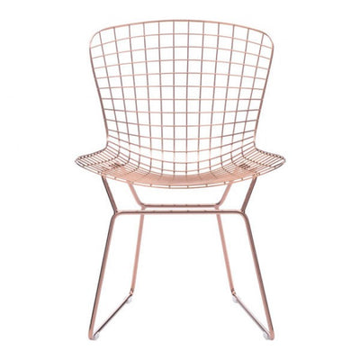 Gorgeous Wire Guest or Conference Chair in Rose Gold (Set of 2)