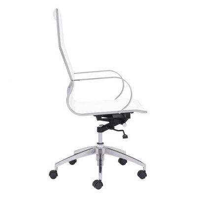 White High-Back Ergonomic Office Chair