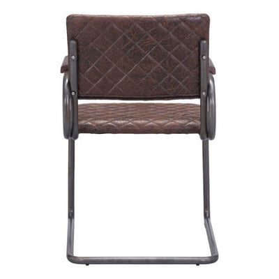 Stylish Brown Crisscross Guest or Conference Armchair (Set of 2)