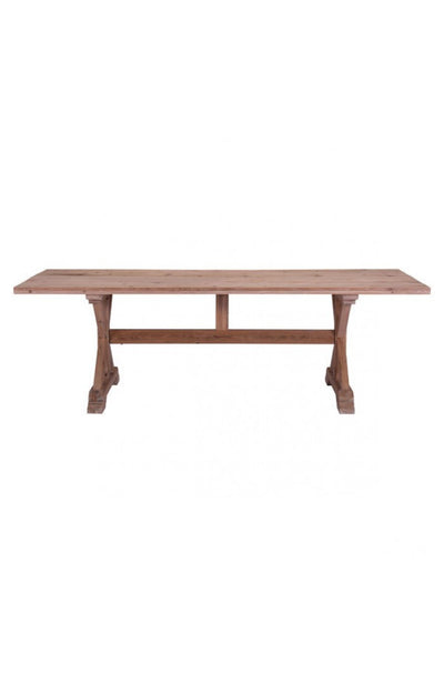 "Modern 94"" Natural Fir Conference Table with Elegant X Base"