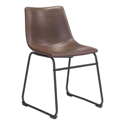 Sculpted Espresso Leatherette Guest or Conference Chair