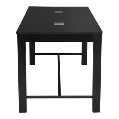 "72"" Stylish Rectangular Black Executive Office Desk w/ USB panels"