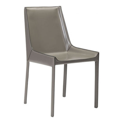 Stone Gray Leatherette Guest or Conference Chair (Set of 2)