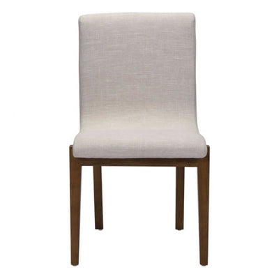 Beige Linen Cushioned Guest or Conference Chair (Set of 2)