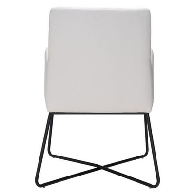 Stunning White Leatherette Guest or Conference Armchair