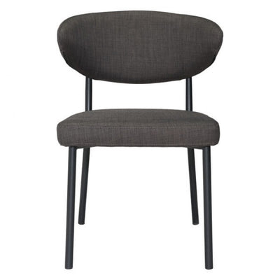 Dramatic Charcoal Gray Guest or Conference Chair (Set of 2)