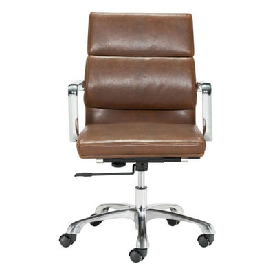 Handsome Brown Leatherette Rolling Office Chair