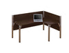 Pro Biz Premium L-shaped Desk with Right Return in Chocolate
