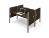 Premium Pro-Biz Face-to-Face Double Desk in Chocolate