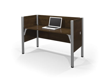 "Chocolate 62"" Pro-Biz Workstation with Privacy Panel"