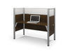 "62"" Pro-Biz Workstation with 55"" Privacy Panel in Chocolate"