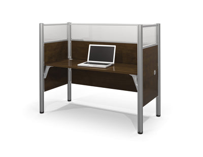 "62"" Pro-Biz Premium Workstation with 55"" Privacy Panel in Chocolate"