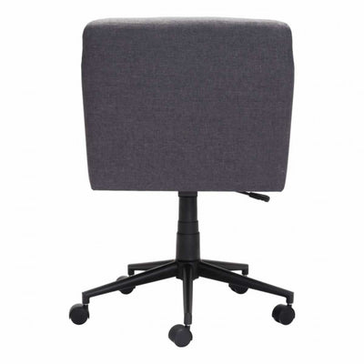Stylish Dark Gray Linen Office Chair